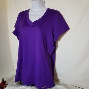 Womens REEBOK Play Dry Purple Athletic Shirt Sz XL